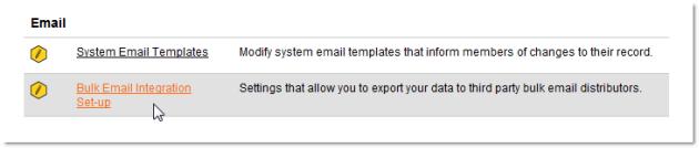 Email set-up in Membee's Admin Menu