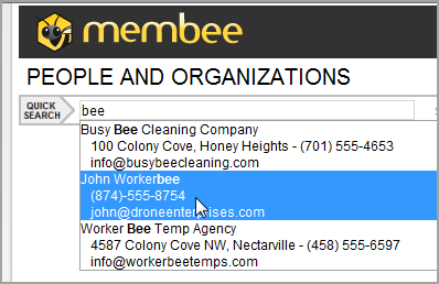 Quicksearch-bee
