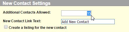 Specify Amount of Contact People Allowed